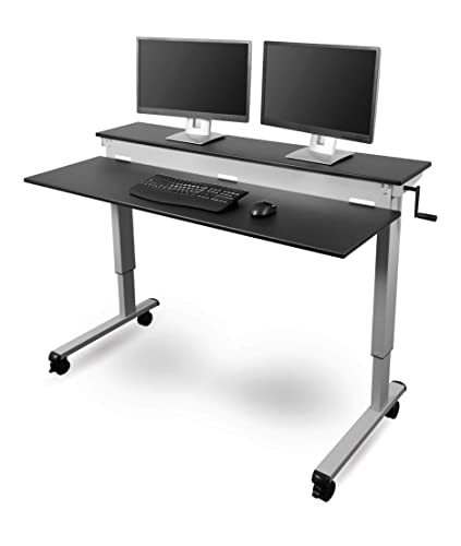 Stand Up Desk Store Crank Adjustable Sit to Stand Up Computer Desk
