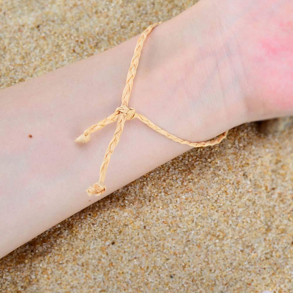 VU100 10Pcs Braccialetto Intrecciato Amicizia Bracciali Perline Cavigliere Regolabile per Donna Ragazze Compleanno Natale Regalo