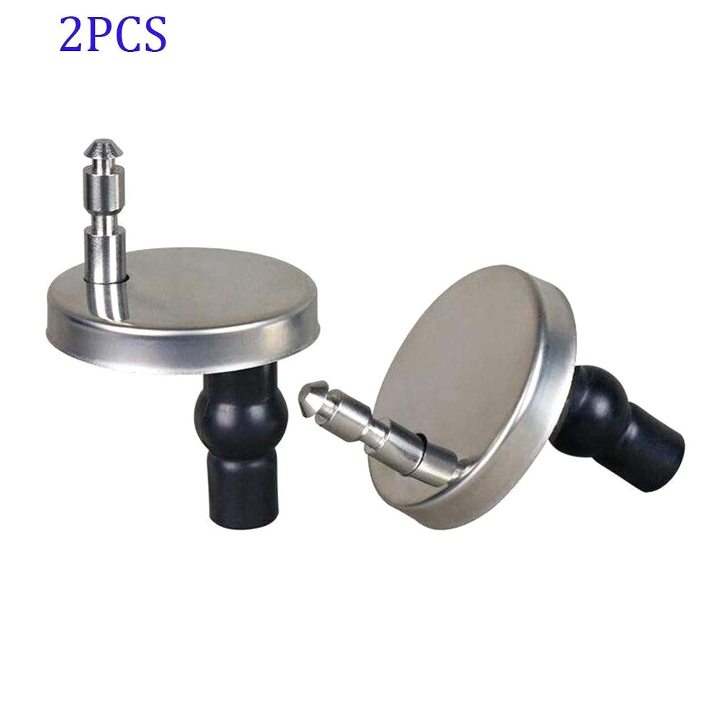 LAQI Parti di Ricambio del Nastro Cerniere per sedili WC Cerniera per sedili WC con bulloni e Dadi 2Pz