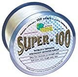 Platypus Super-100 - World's Strongest Fishing Line Since 1898! Clear (300m spool, 15 lb)
