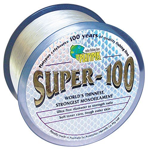 Platypus Super-100 - World's Strongest Fishing Line Since 1898! Clear (300m spool, 10 lb)