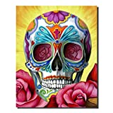 DIY Diamond Painting by Number kits Crystal Cross Stitch Arts and Crafts Decor for Home Wall (colorful skull)