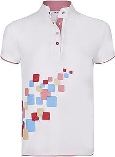 Busse torneo Shirt Lotti, Weiß (Squares), 146/152 Weiß (Squares)