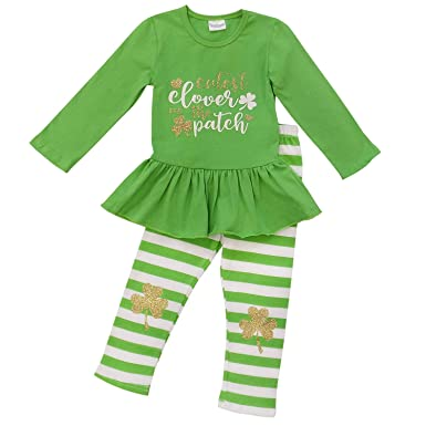 So Sydney Girls Lucky Girl Green Shamrock St. Patrick s Day 2 Pc Boutique  Outfit ( 105808068fbe