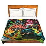 CafeTime Bedding Quilts New Fahion Pet Pattern Pug Bedding Cotton Cover Bed Duvet Cover Comforter Colorful Animal Style Children Kid Nursery Bedding Blanket Quilts For Gift