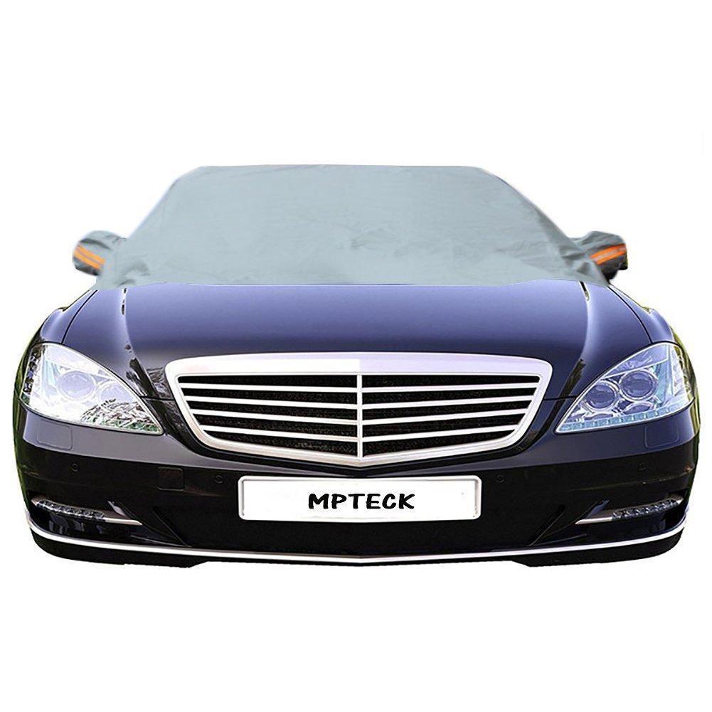 MPTECK @ Couverture pare-brise voiture Fenêtre Voiture pare-soleil arrière Pare-brise avant Visor couverture uv réflecteur pur protège vos voiture des rayons UV pluie givre glace neige pour la plupa