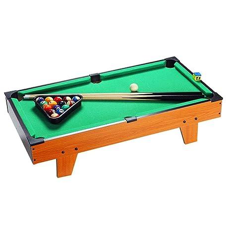 Tabla Top Pool Set De mesa de billar miniatura for adultos niños de Escritorio piscina miniatura Cuadro conjunto de mesa juguete del juego Pool-Mesa de billar pelotas Pollas y la cremallera piscina