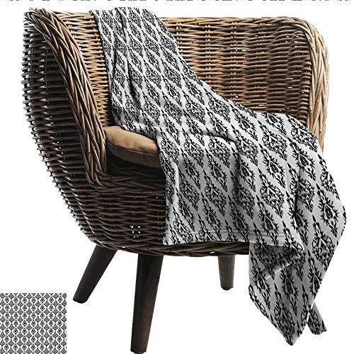 Damask Decorative Throw Blanket Damask Pattern Tiles Interchangeable Retro Nostalgic Modern Baroque Stencil Art Sofa Chair 50