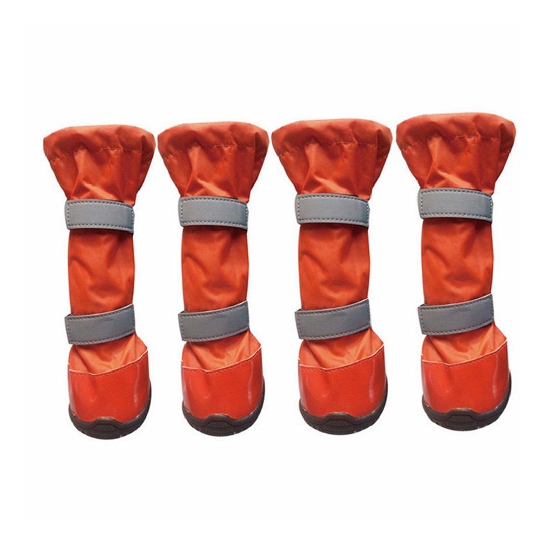 orange Large orange Large KTYX Pet Waterproof shoes in The Big Dog shoes Universal High Boots Rain Boots golden Retriever Dog shoes Foreign Trade Pet shoes pet Clothes (color   orange, Size   L)