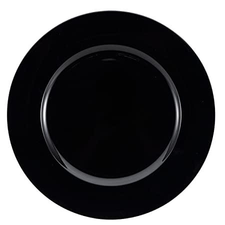 Brunchfill Set of 6 Black Charger Plates Decorative Under-plates  sc 1 st  Amazon UK & Brunchfill Set of 6 Black Charger Plates Decorative Under-plates ...