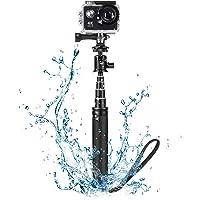 BlitzWolf Selfie Stick, 71cm Ausziehbares Aluminium Einbeinstativ Action Cam Selfie Stick Wasserdicht für Action Kamera, 360 Action Sport Videokamera, DSLR Kameras