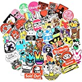 10 Series Stickers Pack 100pcs Stickers Variety Vinyl Car Sticker Motorcycle Bicycle Luggage Decal Graffiti Patches Skateboard Stickers for Laptop Stickers For Kid And Adult (Series J)