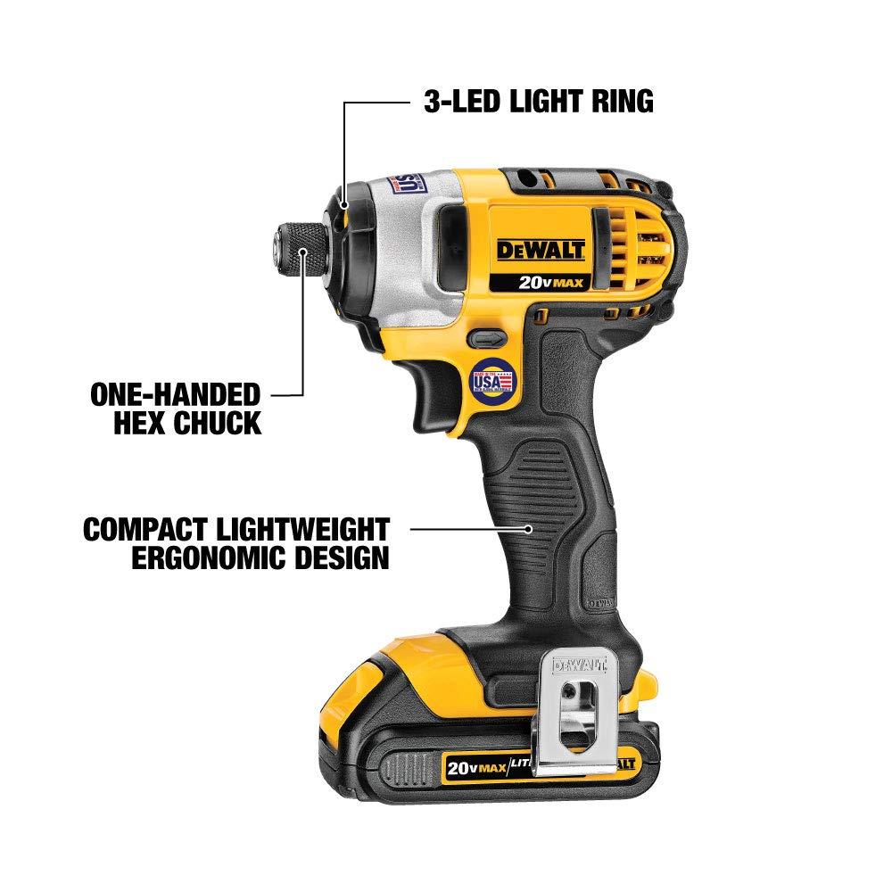Compact 6-Tool DCK620D2 DEWALT 20V MAX Combo Kit