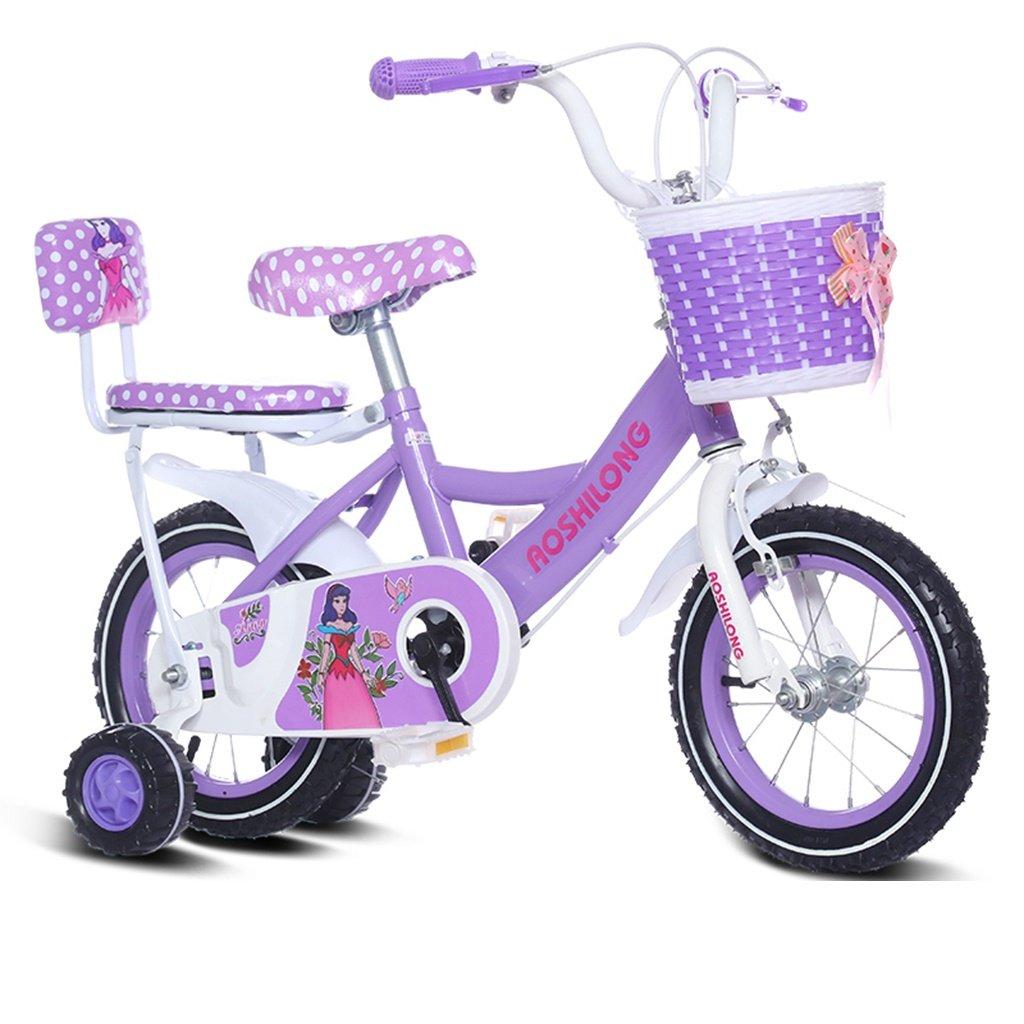 美しい 家チャイルドフォールド自転車3-6-8歳のベビーベビーカー12インチ14インチ16インチ18インチバイク (色 : Purple 2, サイズ さいず : 18Inch) B07CXJJ55X 18Inch|Purple 2 Purple 2 18Inch