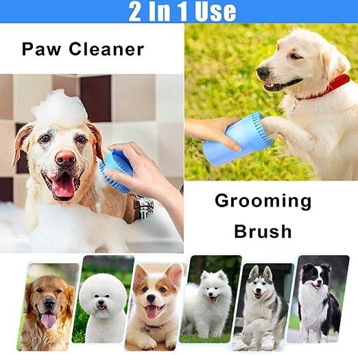 Dellanimale Spazzola Pulitore Zampe S, Rose RUIDING-HOME Portatile in Dog Paw Cleaner Silicone Rondella Intelligente di Piedi Cane