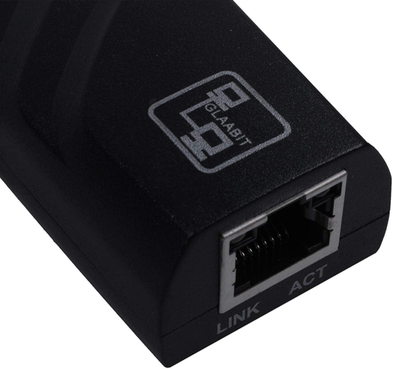 Shumo Gigabit RJ45 USB 3.0 a 10//100//1000 Mbps Adaptateur reseau Ethernet LAN pour PC