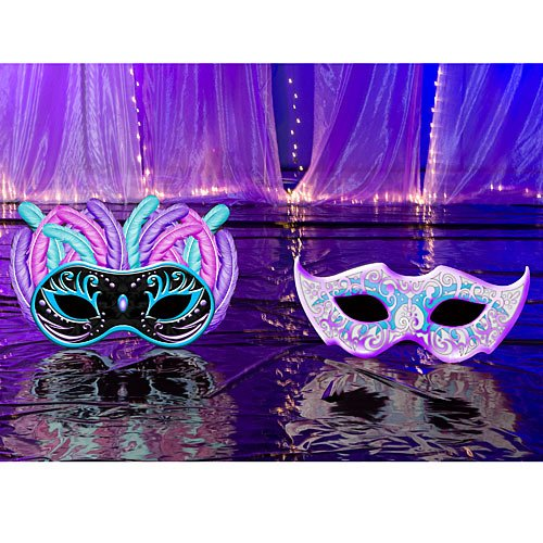 Small Masquerade Ball Mardi Gras Party Props Standup