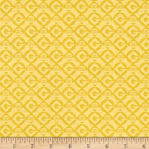 Fabric & Fabric Universal Despicable Me 1 in A Minion Set Geo Blender Pale Yellow Fabric by The Yard, -