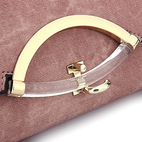 Bag Clutch with Black Bags Handbag Messenger Leather Women Strap Evening Shoulder Adjustable Envelope xz77p08w