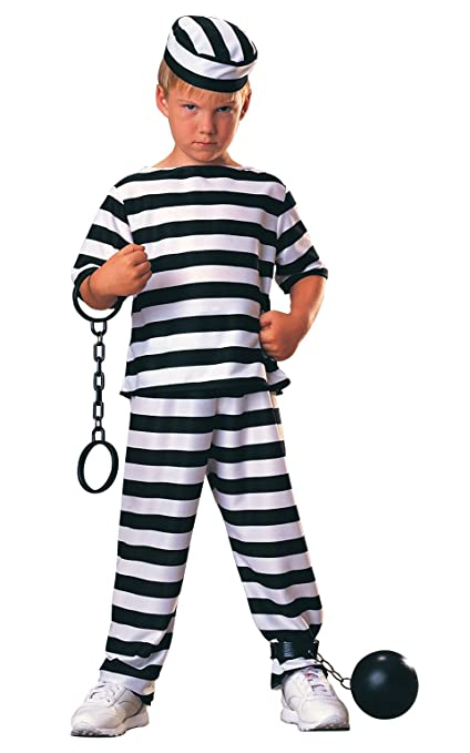 Haunted House Child Prisoner Costume, Large