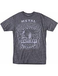 Unisex-Adult T-Shirt (Tee Mm Sap Mock)(Charcoal, Large)