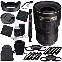 Nikon AF-S NIKKOR 16-35mm f/4G ED VR Lens + 77mm 3 Piece Filter Set (UV, CPL, FL) + 77mm +1 +2 +4 +10 Close-Up Macro Filter Set with Pouch + Lens Cap + Lens Hood + Lens Cleaning Pen Bundle