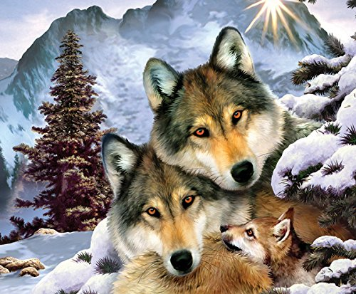 Wolves in Harmony a 1000-Piece Jigsaw Puzzle by Sunsout Inc.