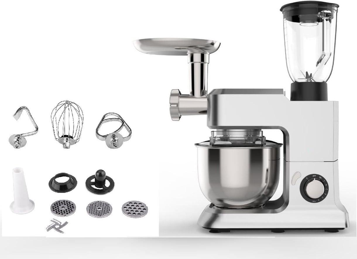 TDL XXL All-in-One Robot de cocina, 2000 W, 6,5 L, 3,5 kg, batidora, picadora de carne eléctrica para amasar, amasadora, multifunción: Amazon.es: Hogar