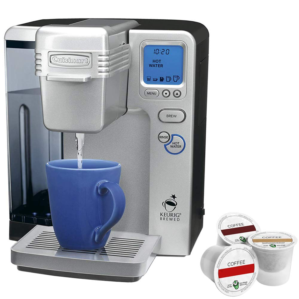 Cuisinart SS-700 Single Serve Keurig Brewing System (Certified Refurbished) Bundle with K-cups