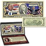 $2 Bill DONALD TRUMP 45th PRESIDENT Nov 8th OFFICIAL Genuine Legal Tender U.S