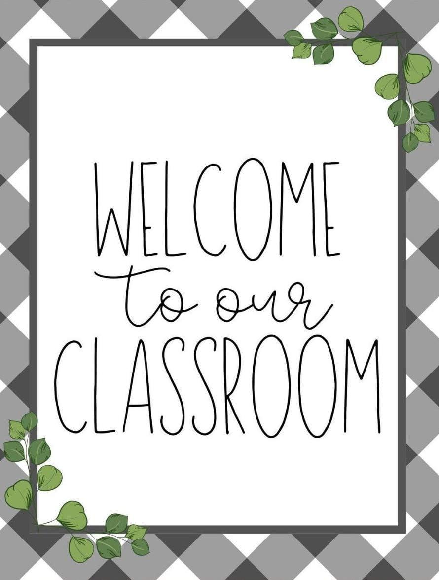 Eeypy Welcome to Our Classroom Farmhouse Classroom Decor School Style Teacher Style Classroom Inspiration Vintage Aluminum Retro Metal Sign