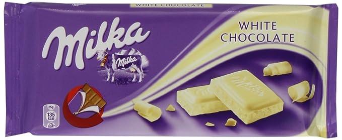 Milka White Chocolate 100 G Pack Of 22