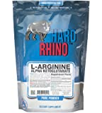 Hard Rhino L-Arginine Alpha Ketoglutarate (AAKG) Powder, 500 Grams (1.1 Lbs), Unflavored, Lab-Tested, Scoop Included