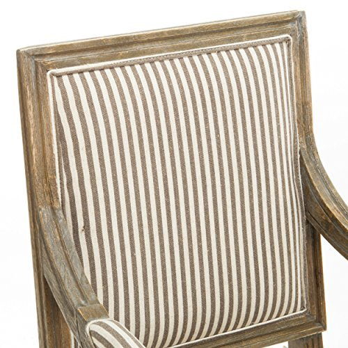 Christopher Knight Home Martin Weathered Dark Coffee Stripe Arm Chair