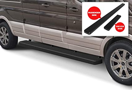 Fits 2010-2013 Ford Transit Connect Ionic Billet Black Running Boards
