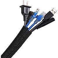 AGPTEK kabelslang, zelfsluitende kabelbescherming, geweven en snijbare kabelmantel, flexibel 2m, diameter 16-28mm…
