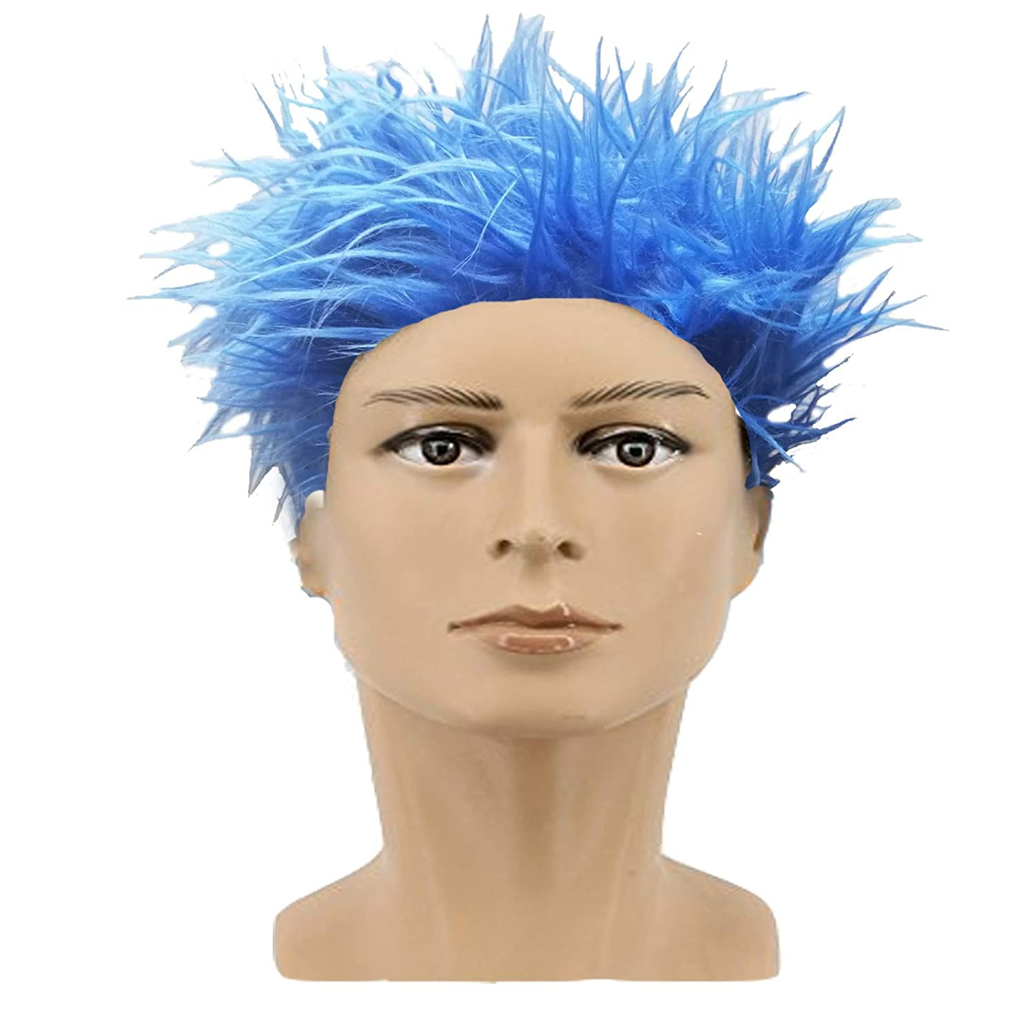 FANCY DRESS BLUE WIG THING 1 THING 2 for CAT IN THE HAT costume (Men  One  Size)  Amazon.co.uk  Toys   Games 0dfb7bbc63ec