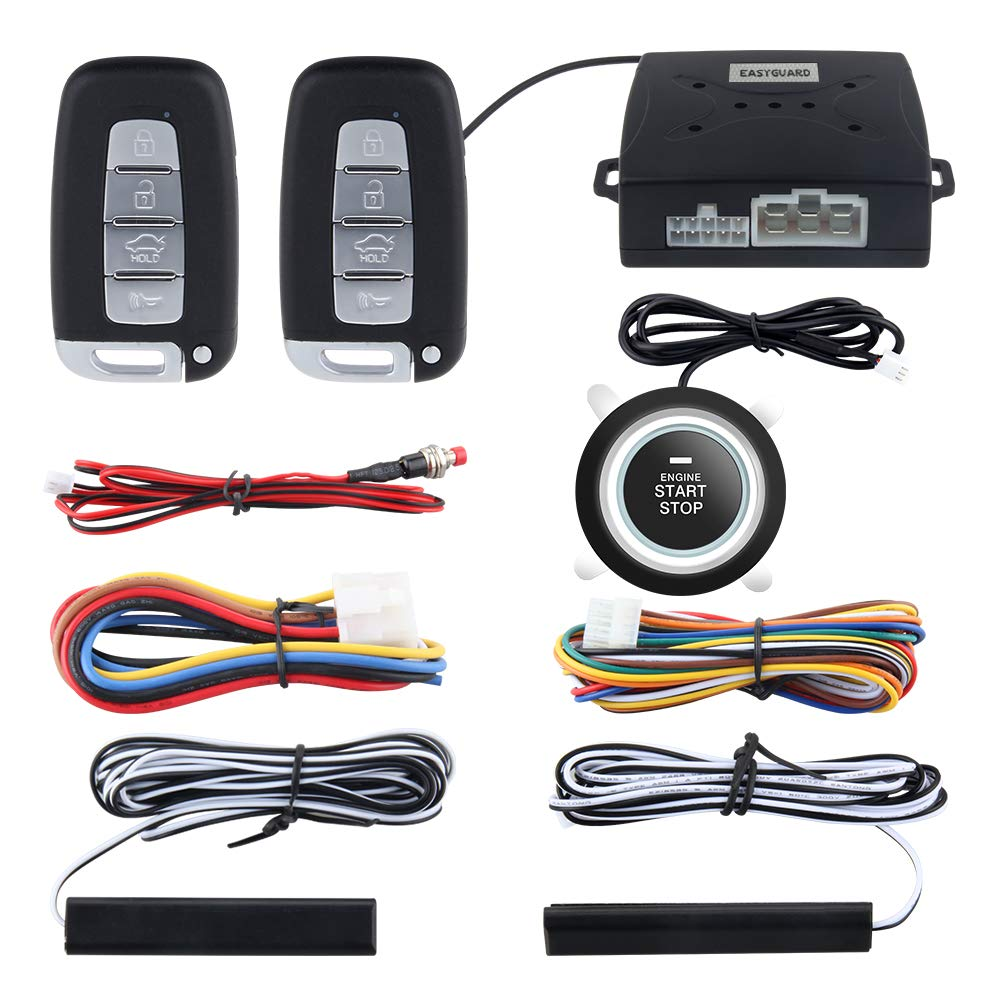 EASYGUARD PKE Car Alarm System Proximity Lock Unlock Push Button Start Remote Engine Start Keyless Go System DC12V EC003N-K-1
