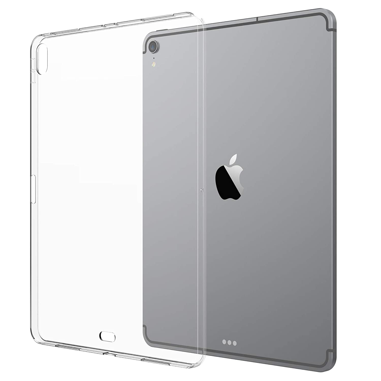 buy online 925b8 5a169 Luvvitt iPad Pro 11 Case Clarity Flexible TPU Slim and Light Back Cover for  Apple iPad Pro 11 in 2018 - Clear (Updated Version - Camera Cutout and ...