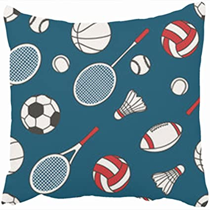 Amazon Custom Decorative Throw Pillows Covers Sports Equipment Best Decorative Sports Pillows