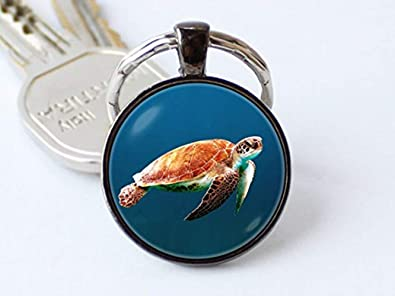 Beautiful Dandelion Hermoso llavero con diseño de tortuga de ...