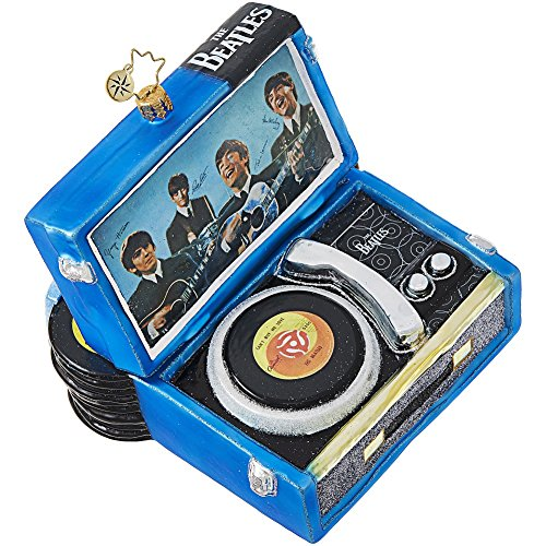 Christopher Radko Beatles Record Player Christmas Ornament
