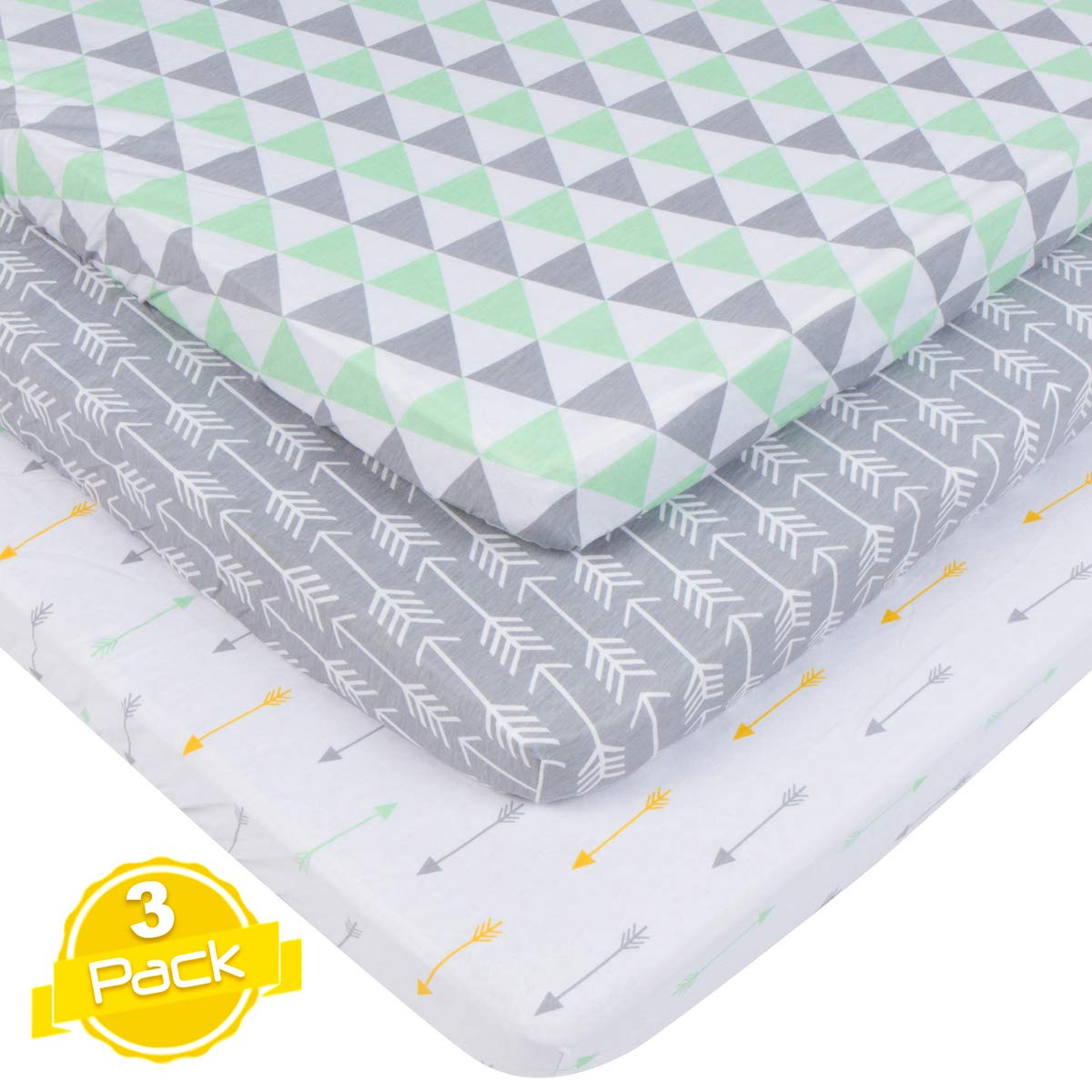 Pack n Play Sheets Set for Playard and Mini Crib Mattresses