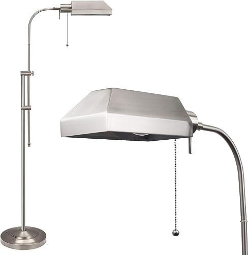 Kira Home Prescott 58″ Modern Adjustable Standing Pharmacy Floor Lamp