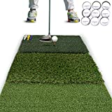 Rukket Tri-Turf Golf Hitting Mat Attack | Portable...