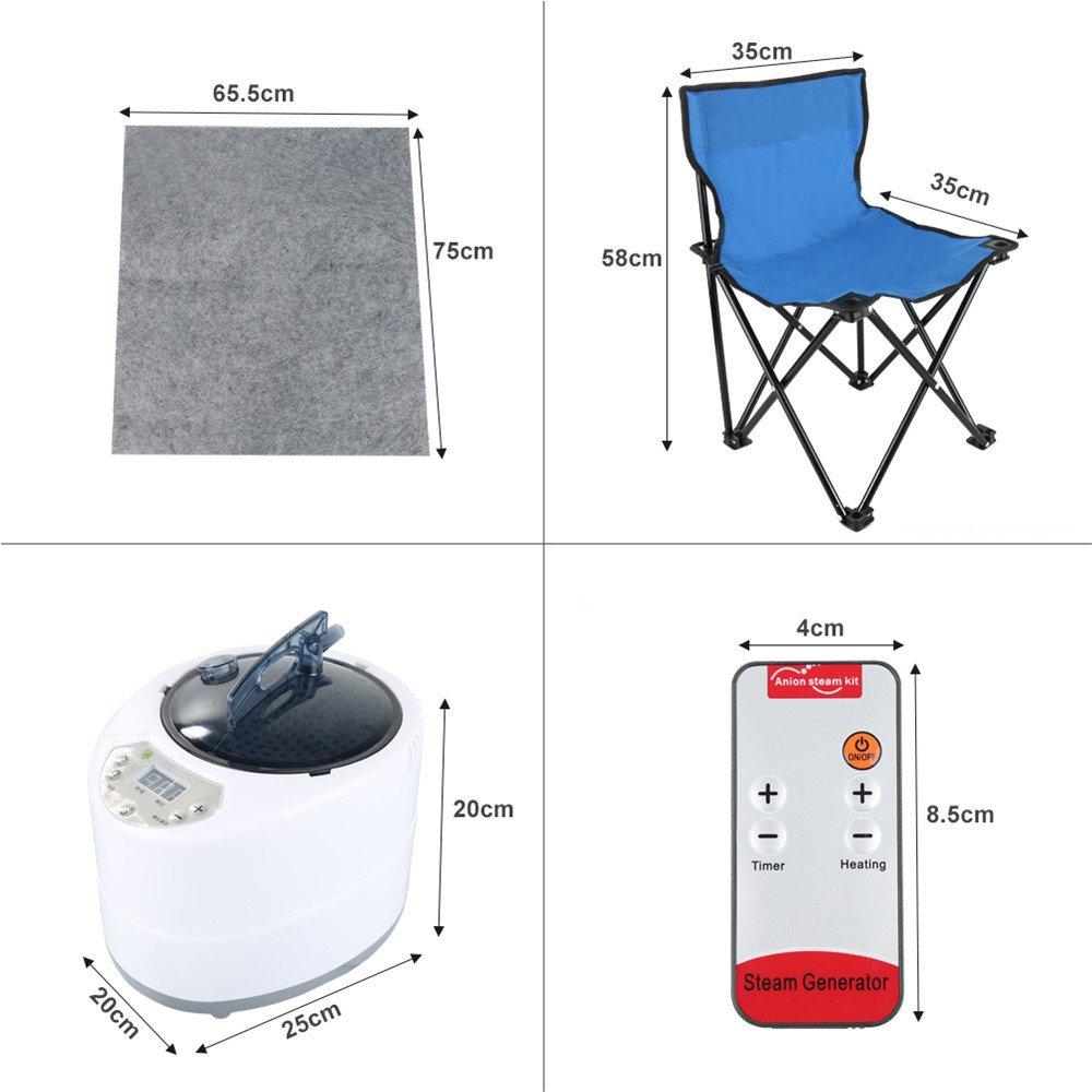 Portable sauna Steamer,1000W Rose Sauna Vapeur Portable