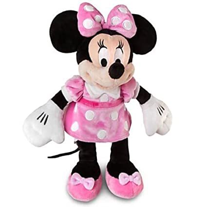 ddbdca15e0e Amazon.com  Disney Small Minnie Mouse Plush - 12   H - Pink Dress ...