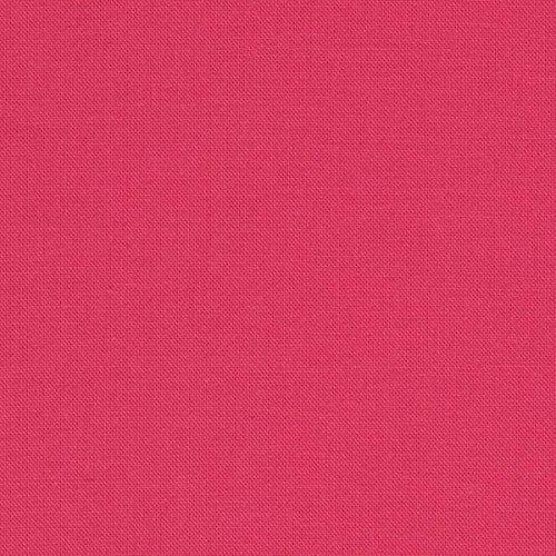 Robert Kaufman Kona Cotton Camellia Pink Fabric by The Yard, (Pink Kona Cotton Fabric)
