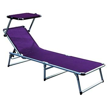 Haute Qualité Aluminium avec toit rembourré pliable Violet L188 x on chaise recliner chair, chaise sofa sleeper, chaise furniture,