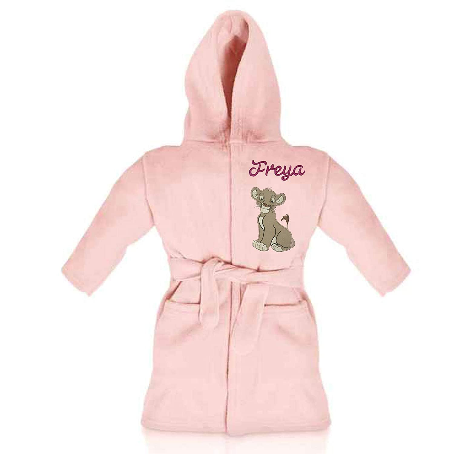 Girls Personalised Fleece Dressing Gown//Bathrobe Lion King Oh Sew Simple Simba Available in 5 Sizes